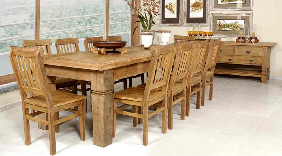 Sala De Jantar Com Moveis Rusticos ~ Espaço Mais  Móveis e Revestimento